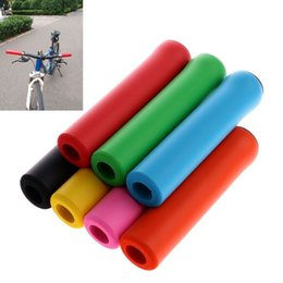 Soft bicycle gripS online shopping - 2Pc pair Bike Racing Bicycle Motorcycle Handle Bar Foam Sponge Grip Cover Non slip Soft Handlebar Bike Bar