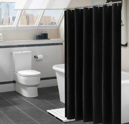 Wholesale Bathroom Shower Curtain, Mildew Resistant Waterproof& Antibacterial Elegant White Polyester Shower Curtain Liner