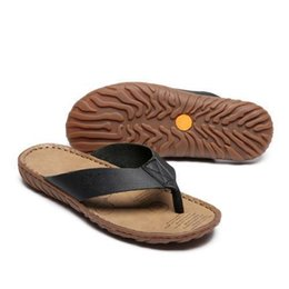Rubber Cheap Flip Flops UK - Leather Men Latest Flip Flops Strong Quality Various Venues Slippers Good Reputation Cheap Good Slippers Top Quality Cow Leather