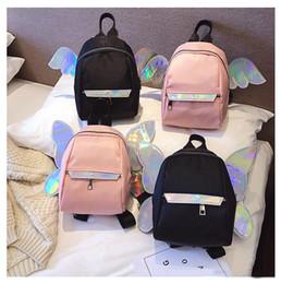 $enCountryForm.capitalKeyWord Australia - Girls Love Little Butterfly Angel Wings Laser Satchel New Design Travel Bling Laser Backpack Casual Style School Shoulder Bag Cute Gift