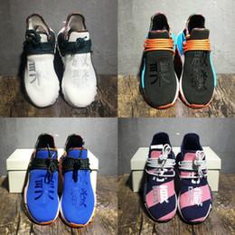 Lighting ideas online shopping - Pharrell Williams Human Race PW HU HOLI MC Heart Inspiration Idea Designer Men Women Running Shoes Afro Hu Trial Solar Pack Sports Sneakers