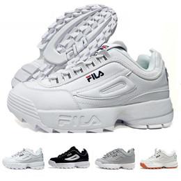 2019 Disruptores 2.0 X Raf Simons zapatillas de deporte unisex 2019 Big Sawtooth Calzado casual Calzado deportivo en blanco y negro Zapatillas de running