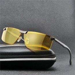 vision designer 2019 - MINCL  Polarized Sunglasses Men Brand Designer Sunglass Mens Yellow Lens Night Vision Driving Sun Glasses UV Eyewear FML