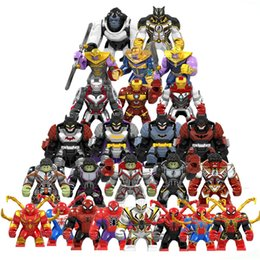 $enCountryForm.capitalKeyWord Australia - 10pcs lot Super Heroes winston thanos spider man Avengers Iron Man Robot MINI Figure Hulk Buster sets building block Kid toys