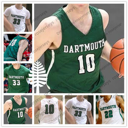 custom basketball jerseys Australia - Custom Dartmouth Big Green College Basketball Any Name Number #10 James Foye 15 Brendan Barry 23 Chris Knight White NCAA 2019 Jerseys S-4XL