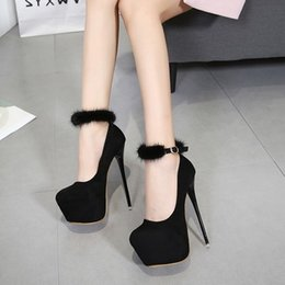 Sexy hairS woman online shopping - 2019 new sexy pointed super high heel waterproof platform water hair with a stiletto shoes female