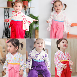 BaBies kimono online shopping - Unisex Infant Full Sleeve Cotton Comfortable Soft Kimono Sleepwear Newborn Baby Boys Girls Japan Style Yukata Pajamas Casual