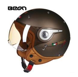 Half Face Helmets Australia - BEON motorcycle helmet summer seasons personality half-face helmets portable men and women