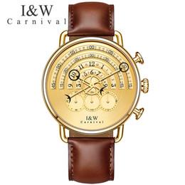 $enCountryForm.capitalKeyWord NZ - Carnival Fashion Unique Quartz Watch Men Leather Strap Waterproof Gentleman Clock Top Brand Luxury Mens Watches Erkek Kol Saati C19021601