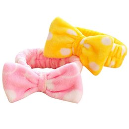 Coral Hair Accessories Australia - Clearance Women Butterfly Bow Hair Band Fashion Stripe Wash Face Headband Girls Headwear Hairbands Coral Fleece Hair Accessories