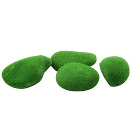 model fairy garden UK - Quality 20Pcs Micro-Landscape Fairy Garden Miniature Decoration Ornament Artificial Fake Moss Green Ball Lawn Mossy Stone Model