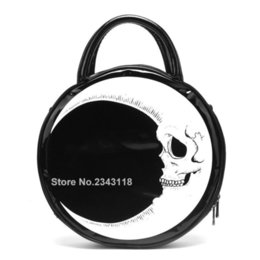 girl skull handbags Australia - Women Lady Girl Punk Dark Skull Head Thunder Flash Printed Gothic Cross Body MOON Messenger Bag Round Handbag Harajuku Gift