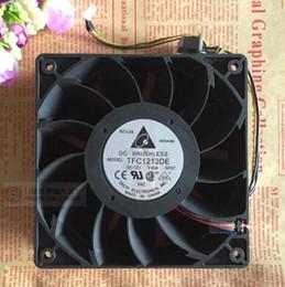 Toptan satış Orijinal Delta TFC1212DE 12 V 3.90A 120 * 120 * 38 12 CM 4 hat şiddet güçlendirici fanı