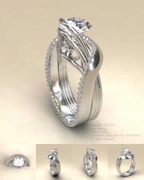 European Gold Ring Australia - Hot new 18-karat gold plated rings,European and American micro - set imitation diamond ring engagement ring girl