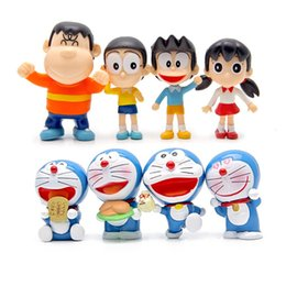 anime collectables figures Australia - Classic Anime Kids Toys Doraemon PVC Action Figure Nobita Shizuka Suneo Collectable Model Toy Cake Party decoration kids gift Favor8pcs lot