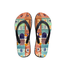 $enCountryForm.capitalKeyWord Australia - House Men's Flip Flops Beach Shoes Outside Village Painting Sandals Flops Sandals Man Summer Simple Design Flop