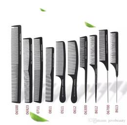 $enCountryForm.capitalKeyWord Australia - High Quality Cheap Hair Brush Professional Salon Black Carbon Metal Rat Tail Comb Styling Brush Antistatic Cutting Hair Comb
