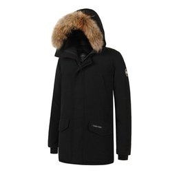 Mens Waterproof Down Parka Australia - 2019 Brand New Canada Style Mens real duck down thick Coat Waterproof Windstopper Winter Warm Langford Parka Raccoon fur