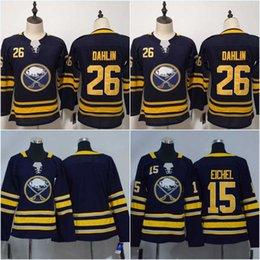 Women Youth Buffalo Sabres 26 Rasmus Dahlin 15 Jack Eichel Jersey High  Quality Free Shipping Hockey Jerseys 67b5fe867