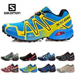 Cheap Cross body online shopping - Cheap Salomon Speed Cross CS Mens Womens Running Shoes III Outdoor Designer Shoes Black Green Red Blue Trainer Sport Sneaker Size