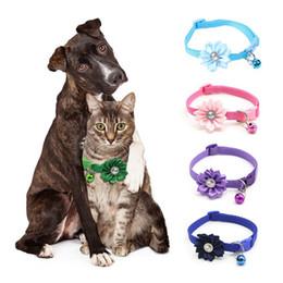 $enCountryForm.capitalKeyWord Australia - Hot Sale Pet Cat Collar Bell Flower Adjustable Easy Wear Buckle Dog Collar Bells Lovely Flower Cat Necklace Pet Supplies
