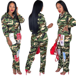 a31babe3de6 Camouflage Printed Jumpsuits Casual Overall For Women Turn-Down Collar Long  Sleeve Harajuku Jumpsuit Streetwear Front Zipper Party Romper