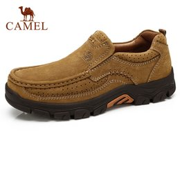 Discount camel toe shoes - CAMEL Outdoor Men Shoes Autumn Wearable Matte Genuine  Leather Man Casual a38f8112261