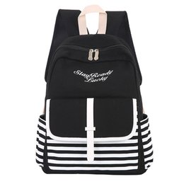 Korean cool girls online shopping - ashion School Japan and Korean Preppy Style Rucksack Girls Fresh Style Casual middle school student canvas backpack cool new