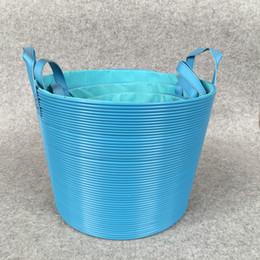 $enCountryForm.capitalKeyWord Australia - A braided frame for placing dirty clothes. Laundry basket Plastic rattan braided dirty clothes basket toys basket bucket