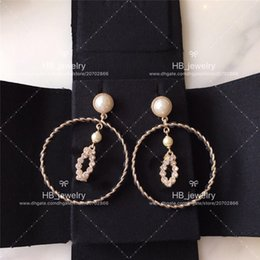 Wholesale Popular fashion brand High version big Earrings for lady Design Women Party Wedding Lovers gift Luxury Jewelry for Bride With BOX