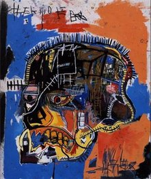 "$enCountryForm.capitalKeyWord NZ - Jean Michel Basquiat ""Scull"" Handpainted & HD Print Home Decor Abstract Graffiti Wall Art Oil Painting High quality On Canvas.Multi size g60"
