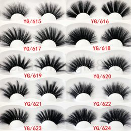 $enCountryForm.capitalKeyWord Australia - 2020 25mm False Eyelashes One Pairs set YG15~24 NEW 30 styles thick fiber Natural Eyelash Thick Natural Looking Black Color Fashion Soft 30g