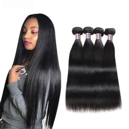 Discount human hair machine weft - 8-28inch Brazilian Body Wave Human Hair Bundles 3 4 5pcs Mink Peruvian Straight Human Hair Extensions Unprocessed Virgin