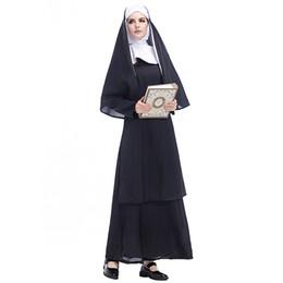 aea997df5a Carnival Sisters  Dress Plus Size XXL Black Nun Stage Show Godmother Fancy  Dress Women Monasticism Uniform Halloween Virgin Mary Costumes