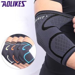 $enCountryForm.capitalKeyWord Australia - & Knee Pads Aolikes 1PCS Adjustable Elbow Support Pads Breathable Basketball Football Sports Safety Volleyball Elbow Pad