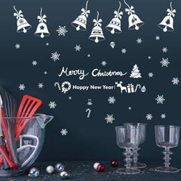 $enCountryForm.capitalKeyWord NZ - 3D Christmas Balls Snowflake Bell Wall Sticker Home Decor Window Glass Poster Festival Christmas Decoration PVC Mural Wallpaper