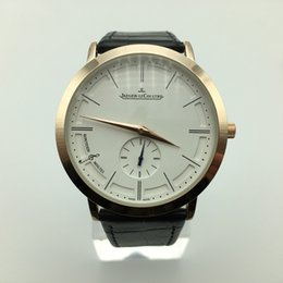 Thin leaTher waTch band online shopping - On sale mm Ultra thin dials small three needle leather band quartz gold case luxury men designer watch dropshipping fashion mens watches