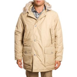 $enCountryForm.capitalKeyWord Australia - Long Jacket Men Arctic Anorak Beige Down Jacket Mens Coat Warm Winter Coat Raccoon Fur Collar Waterproof Fabric Clothing