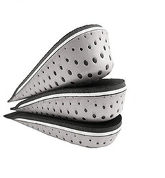 sports heel pads UK - 1 Pair Shoe Insoles Breathable Half Insole Heighten Heel Insert Sports Shoes Pad Cushion Unisex 2-4cm Height Increase Insoles