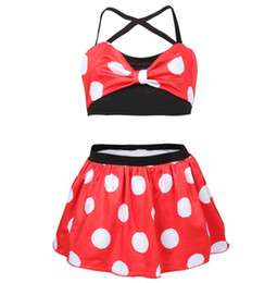 44be960b28aa1 2019 Summer Girls swimsuits children Bows bikini swimming kids polka dots  split swimwear children cartoon beach bathing suit F8032