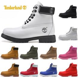 a95ddc70fb7 Timberlands 2019 New Timberland botas de grife de luxo homens mulheres  sapatos casuais militar Chestnut Black White tênis mens formadores de couro  bota de ...