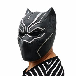 animal face masks UK - Black Panther Masks Captain America Civil War Roles Cosplay Latex Mask Helmet Halloween Realistic Adult Party Props Ball Mask