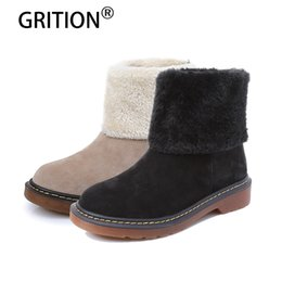 $enCountryForm.capitalKeyWord NZ - GRITION Winter Genuine Leather Fashionable Fur Mid Calf Girls Women Boots Warm Cow Suede Classic Ladies Snow Boots Large Si