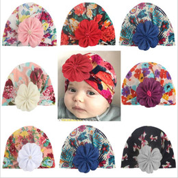 $enCountryForm.capitalKeyWord Australia - Baby Hats India Bohemian Floral Caps Newborn Printed Crochet Hat Toddler Vintage Fashion Beanie Infant Winter Lovely Caps Accessories B6068