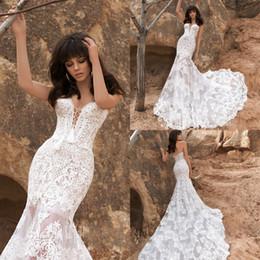 $enCountryForm.capitalKeyWord Australia - Graceful Lace Mermaid Wedding Dresses Sexy Sweetheart Neckline Wedding Gowns Sweep Train Luxury Sleeveless Mermaid Bridal Gowns