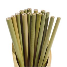 Wholesale Bamboo Straw Reusable Straw Organic Bamboo Drinking Straws Natural Wood Straws For Party Birthday Wedding Bar Tool B11