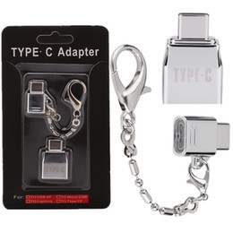Type c OTG Adapter Micro to type c adapter converter for samsung huawei android phone on Sale