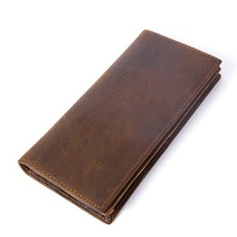 Leather waLet man online shopping - Crazy Horse Men s Wallet Made Of Genuine Leather Clutches Clutch Male Man Walet Purse For Men Long Wallets Cards