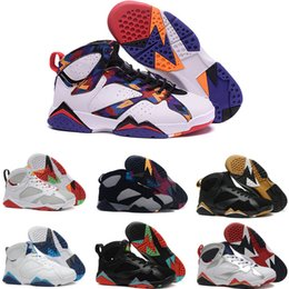 268f4ca32040fa High Quality 7s Mens Basketball Shoes 7 Olympic Sweater French Blue True  Flight Hare Marvin White Men Women Sneakers Sports Shoes Sizes 7-13