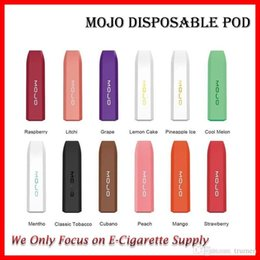 shisha starter kits Australia - Original Mojo Disposable Vape Pen 280mAh Prefilled 1.2ml Portable Pod Starter Kit 12 Flavors E Cig Shisha Pen Kit DHL Free